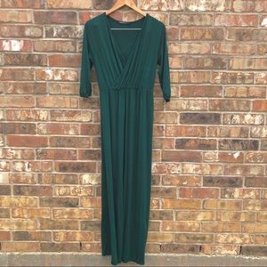 Boohoo Petite Hunter Green Maxi Dress Size 8